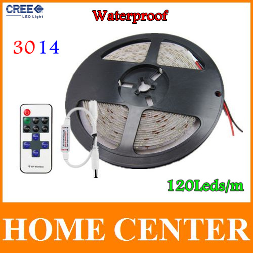 Waterproof 5M SMD 3014 120leds/m 600Leds  LED strip light DC 12V and 11keys IF Wireless Remote control warm white red green bule<br><br>Aliexpress