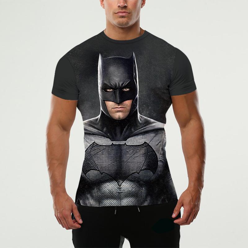 Bat Man Originality Brand Clothing Compression Mens 3D T Shirt Printed Bodybuilding Fashion Tights Short Sleeve Fitness(China (Mainland))