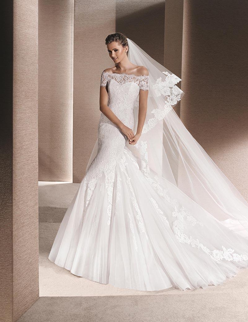 Wedding Dresses  France : Newest arrival hot sale france lace vintage mermaid
