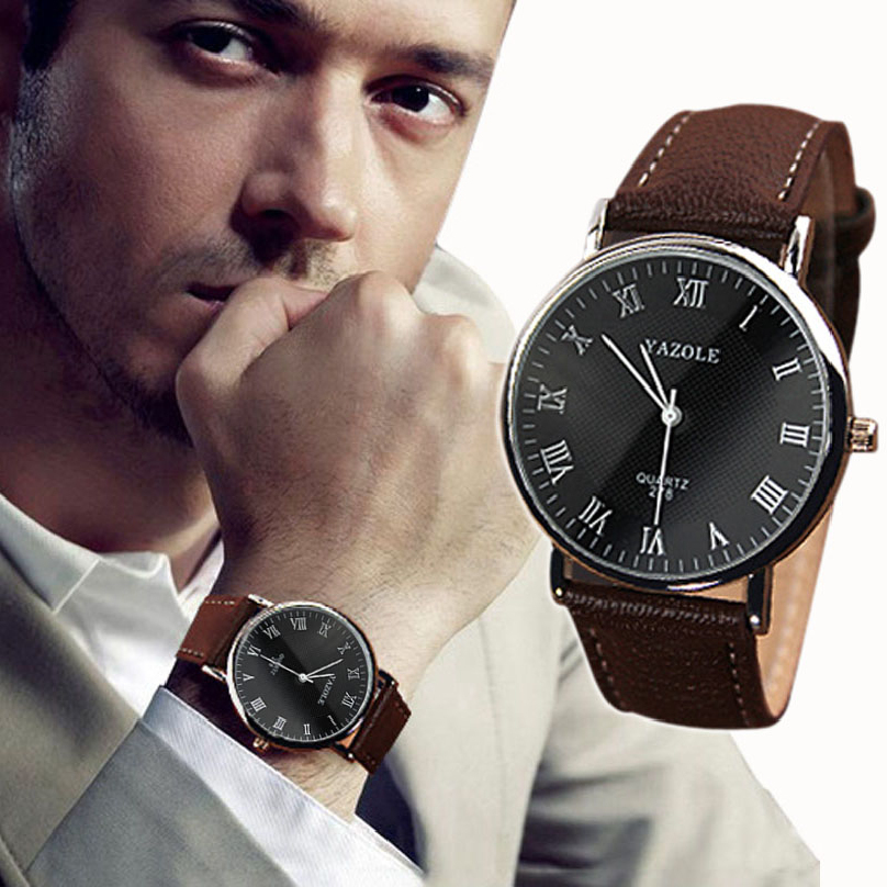 2015 Men s Watches Top Brand Luxury Quartz Watch Fashion Genuine Leather Watches Men Watch relogios