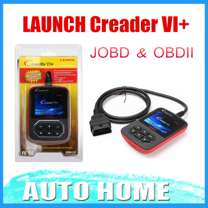 [LAUNCH Distributor] 100% Original Launch Creader 6+ VI Plus support JOBD OBD code scanner fast shipping(China (Mainland))
