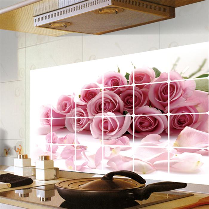 decoracao cozinha diy:Aliexpress.com: Compre Diy rosas cozinha decoração do banheiro