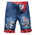 Free shipping 2017 new fashion mens short jeans cotton summer style shorts thin breathable denim shorts