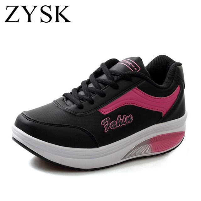 [ Ushoes ] 2016 Женщины платформа свободного покроя обувь весь сезон уличной обуви ...