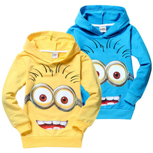 Brand cartoon anime figure Despicable Me Spongebob  Children Hoodies Kids Jackets Coat Clothing Boys Girls Autumn minion Sweater(China (Mainland))