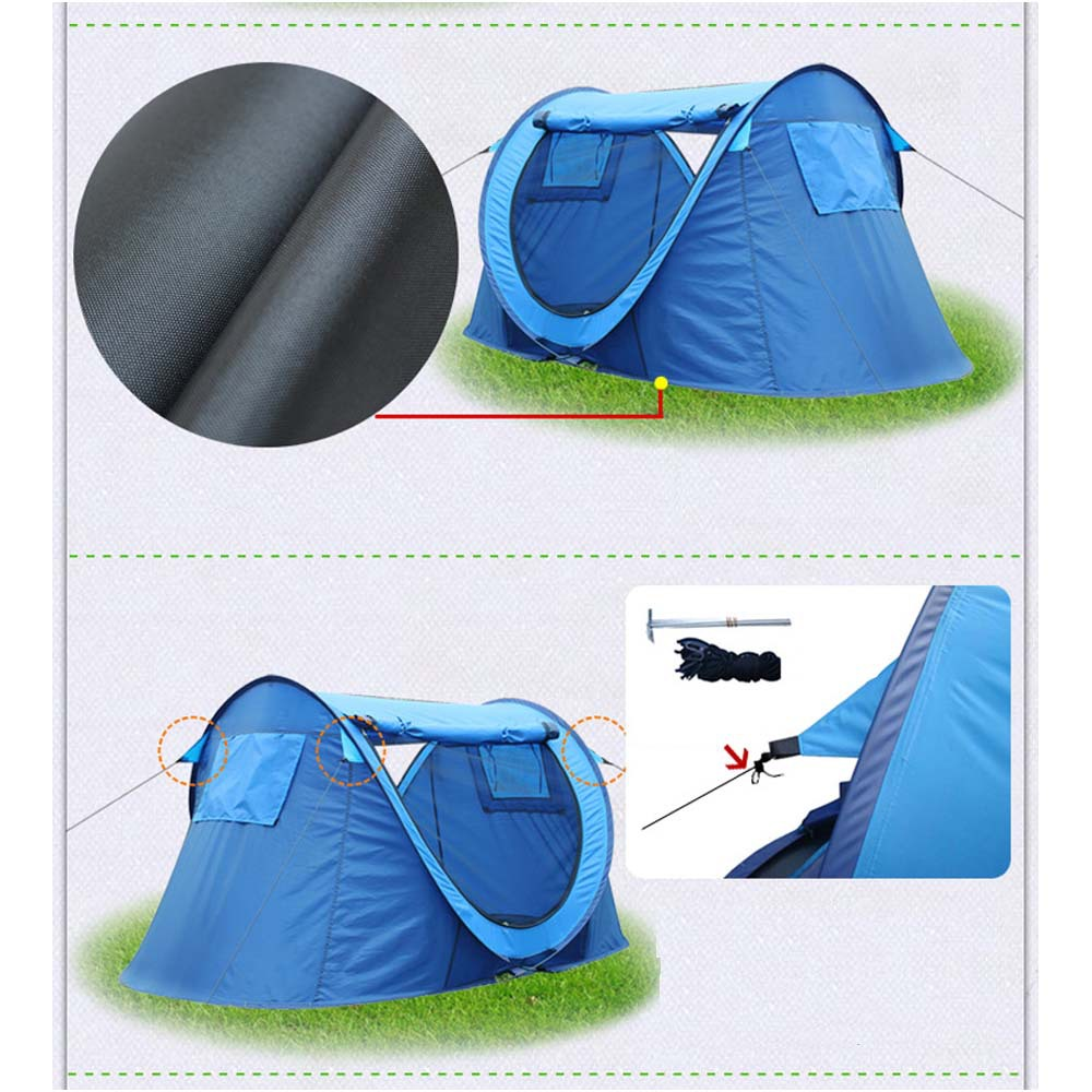 Creative Portable Automatic Opening 2 Persons Waterproof Fish Camping Outdoor Tent Picnic BBQ Travel Tents 225*120*95cm Tents(China (Mainland))