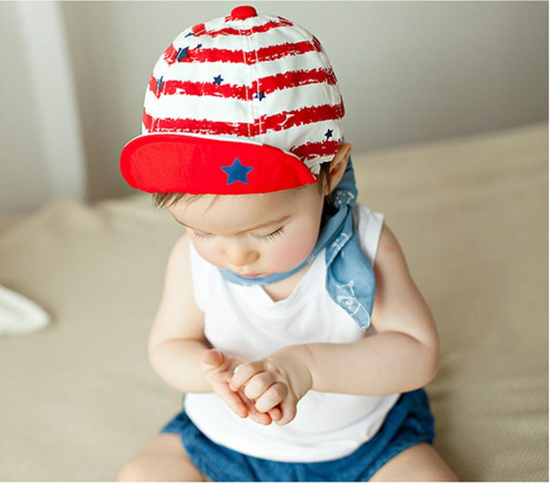 Fashion Berets Stripe Hats For Kid Boy Hat Girl Baseball Cap Toddler Infant Hats Photography Props Star Baseball Beret Caps W8(China (Mainland))