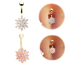 High quality Medical Steel Crystal Rhinestone Belly Button Ring Dangle Navel Body Jewelry Piercings Tassel Free shipping