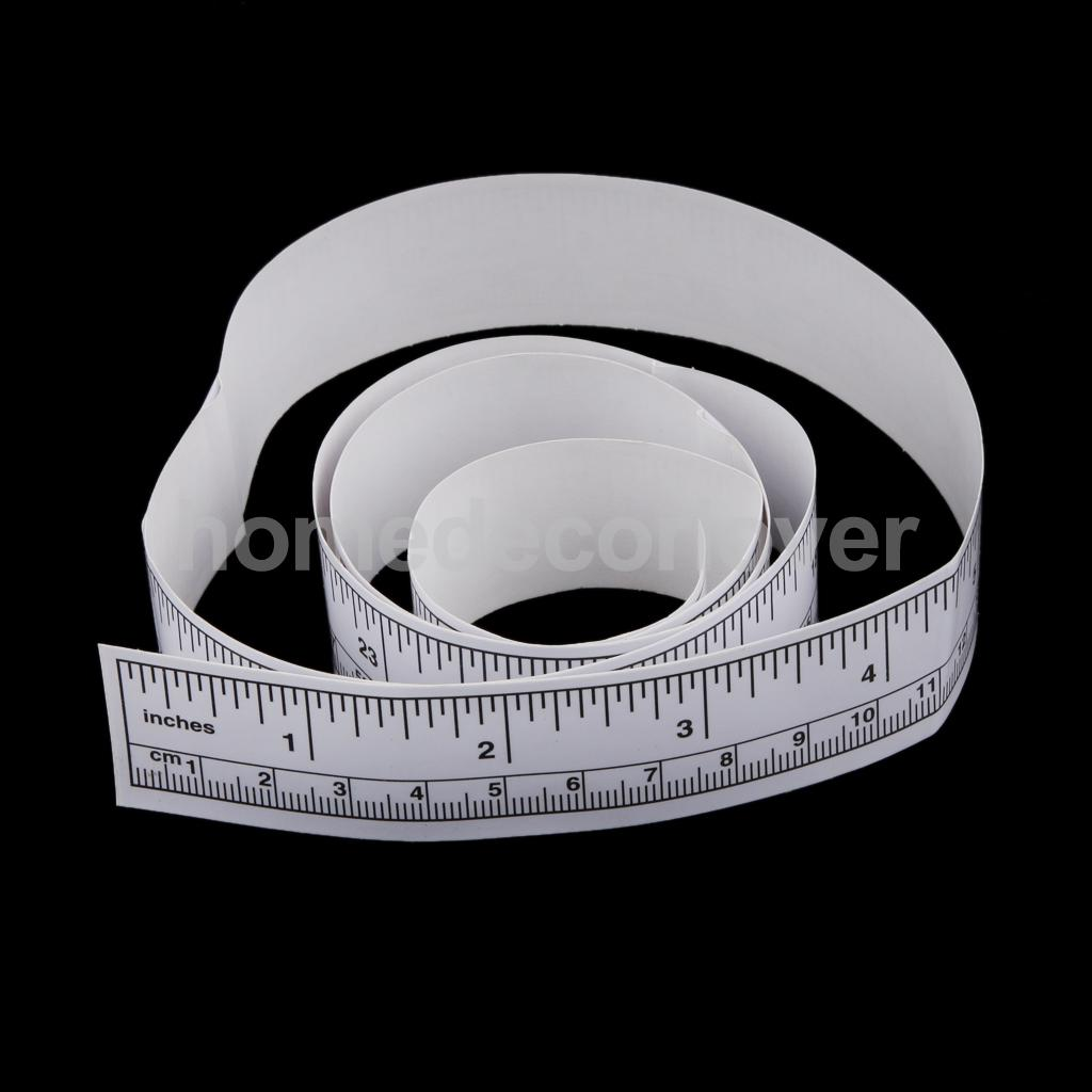 90cm Self Adhesive Measure Tape Vinyl Silver Ruler Sewing Machine Sticker(China (Mainland))