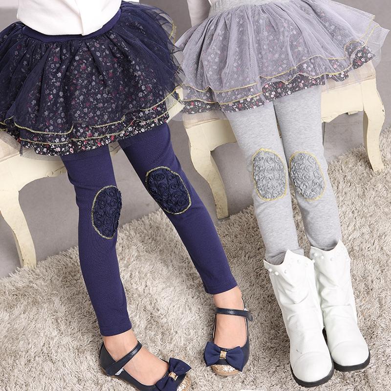 3-12Y Flower Girl Pants Baby Girl Leggings Kids Cotton Children Autumn Winter Leggings For Girls Thicken Legging Girls Lot(China (Mainland))