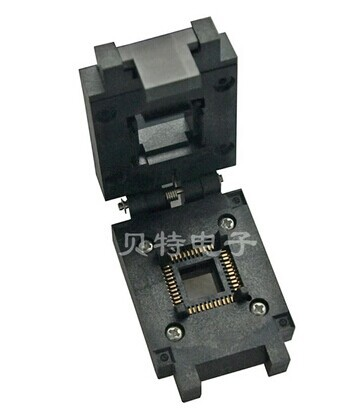 Import QFP44 connecting seat FPQ - 44-0.8-17 burn bridge test adapter FREESHIPPING(China (Mainland))
