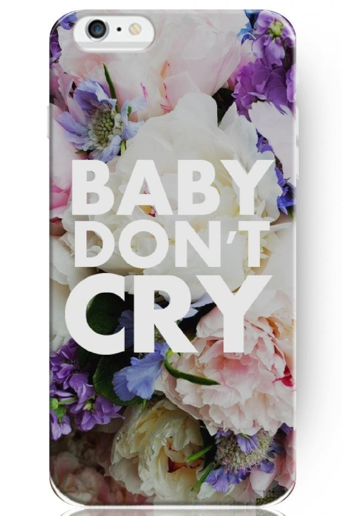 Cute Design Hard Protective Cover 5.5 Inch for apple for iphone 6 Plus Case With Sayings -- Baby don't Cry(China (Mainland))