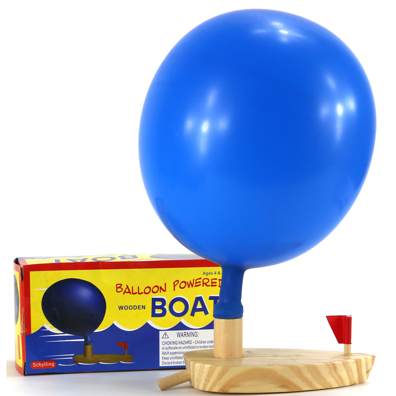 how to make a balloon powered boat