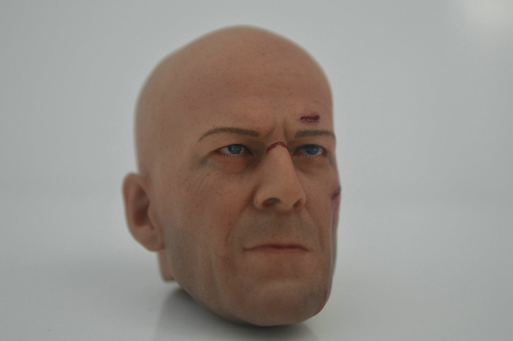 """Custom 1/6 Hot GI Joe Colton Bruce Willis Expendables Head Sculpt Damaged Ver for 12"""" Action Figure doll Toys soldier model(China (Mainland))"""