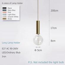 Скандинавский простой подвесные светильники E27 светодиодный Современный Креативный дизайн DIY для спальни, гостиной, спальни, кухни, Рестора...(China)