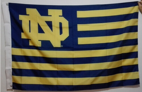 NCAA The University of Notre Dame Fighting Irish USA NCAA Flag custom flag banner 3X5FT OR 2X3FT two size can choose(China (Mainland))