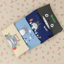 Cute Kawaii Fabric Pencil Case Lovely Cartoon Totoro Pen Bags for Kids Gift School Supplies 1pcs(China (Mainland))