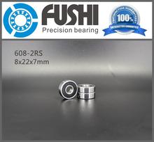 608 2RS Bearing ABEC-5 10PCS 8X22X7 MM Skateboard Ball Bearings 608RS EMQ Z3V3 608-2RS 608rs Bearing(China (Mainland))