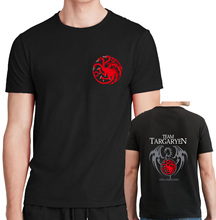 Buy new fashion 2017 fire blood t shirts man house targaryen printing cotton casual game thrones tops harajuku t shirts for $6.51 in AliExpress store