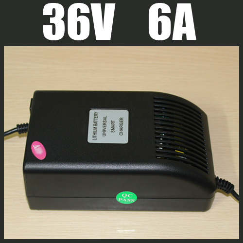 36V 6A LiFePO4 Battery Charger High Quality Electric Bicycle Battery Charger 12S 36V Lithium Charger Free Shipping 06698(China (Mainland))