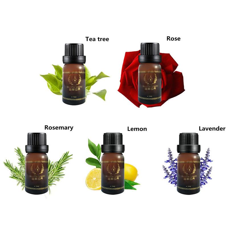 10g Ml 100 Pure Lemon Lavender Tea Tree Rosemary Rose Essential Oils Pack For Aromatherapy