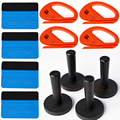 Car Vinyl Wrapping Tools Kits Felt Scraper Squeegee Magnetic Magnet Holder Vinyl Cutter For Vehicle Wraps
