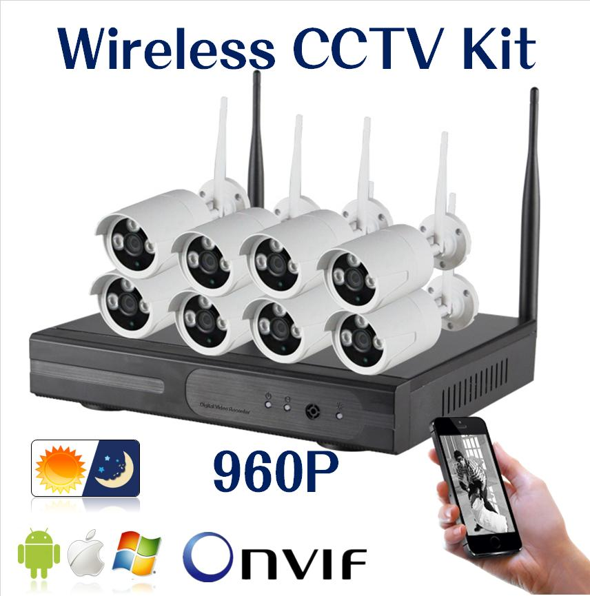 Hiseeu CCTV System 8ch HD Wireless NVR kits bullet 1.3MP IP Camera IR-CUT Camera Home Security System video Surveillance Kit(China (Mainland))