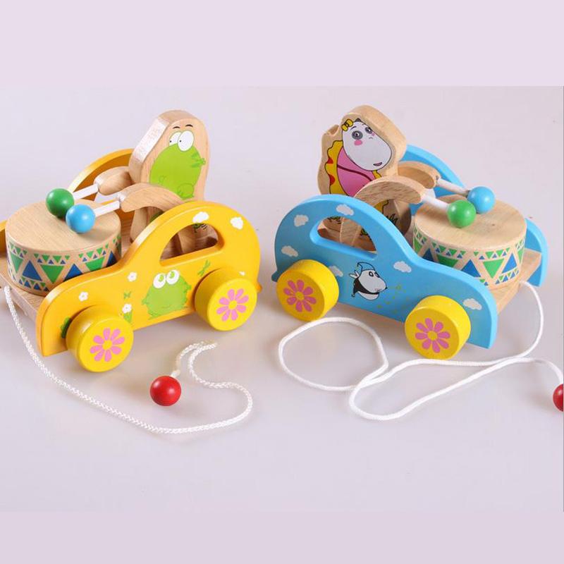 lindo oso de juguete ritmo tambores de vaivn del juguete para el beb que aprende caminar