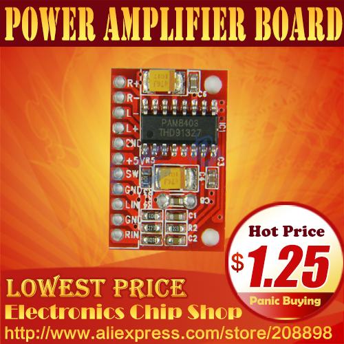 Mini Digital Power Amplifier Board Module PAM8403 Class D 2*3W - Electronics Chip Shop store