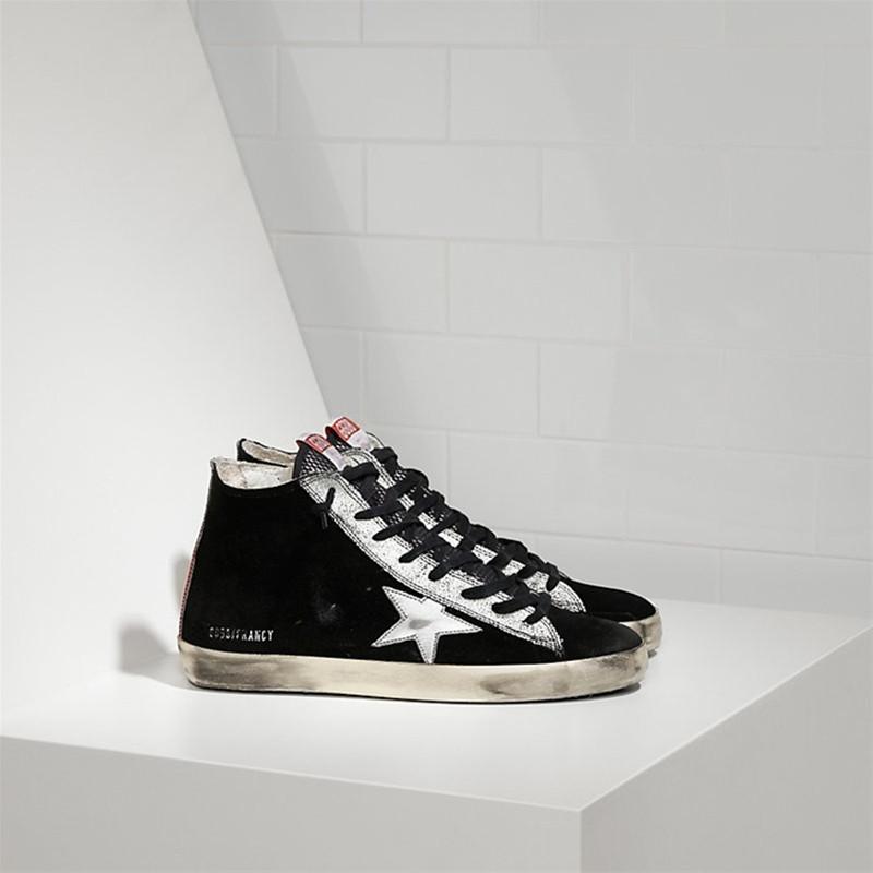 Italy Original Deluxe 2015 Men Women Golden Goose Black flats shoes Superstar Zip Flat High Top GGDB Couples Shoes Scarpe