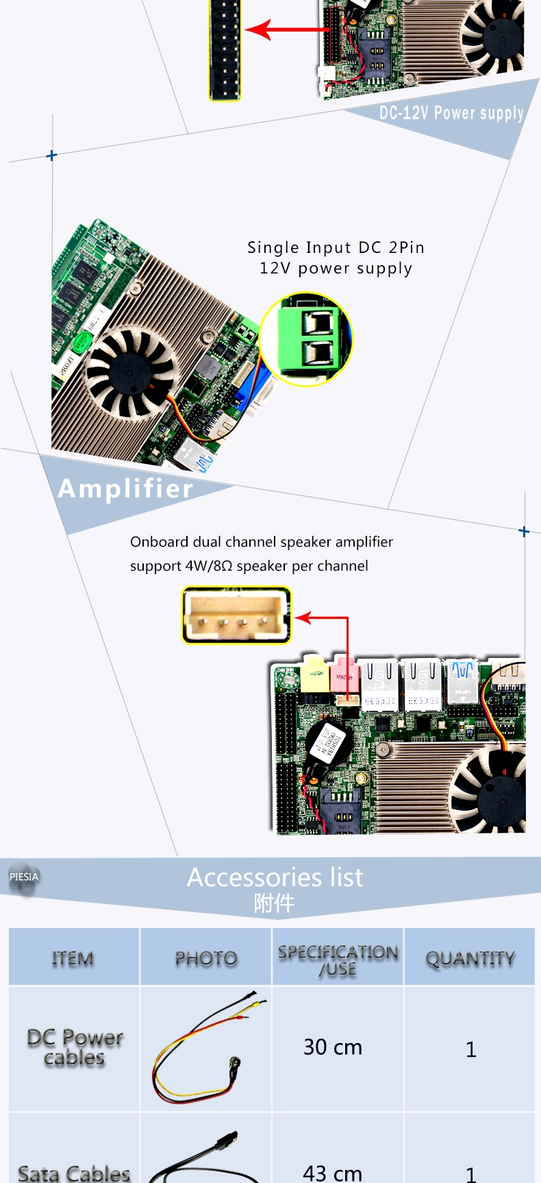With Intel celeron 1037u CPU  motherboard Dual core 1.8GHZ mini PC mainboard 12v  industrial board HM77 embedded motherboard