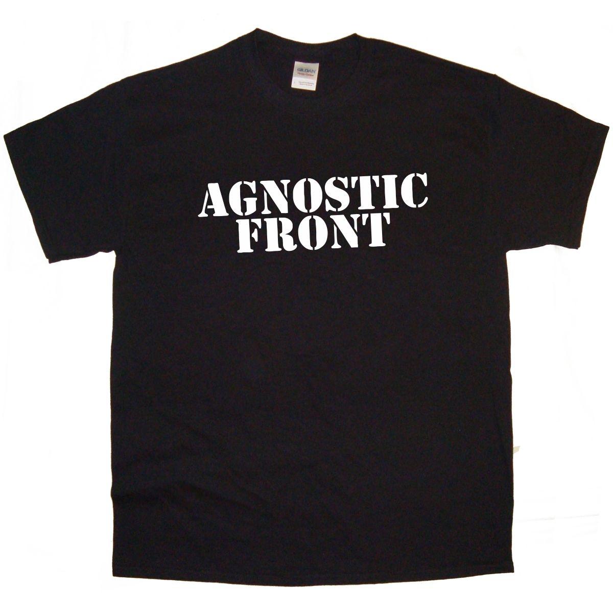 AGNOSTIC FRONT Band logo Rock Thrash Black DEATH HEAVY METAL PUNK POP t shirt summer tshirt(China (Mainland))