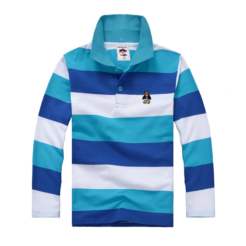 high quality boys t shirt kids toddler big boys clothing long sleeve 100% cotton striped tops size 2 4 6 8 10 12 14 years(China (Mainland))