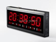 Из светодиодов электронный календарь, Сигнализация часы из head светящийся немой лаконичный цифровой часы! ( 60 см * 28 см )