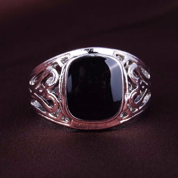 jewelry 925 sterling silver black enamal mens biker