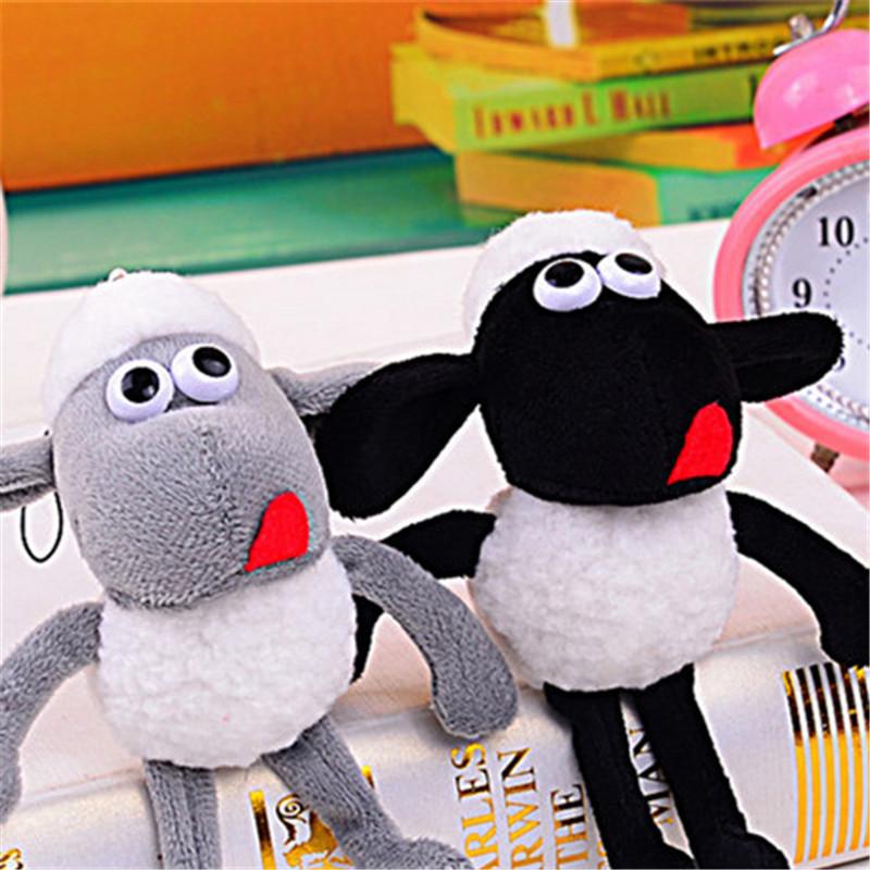 14cm Kawaii Anime Sheep Lamb Plush Stuffed Toys Dolls Stuffed Animals Bag Car Pendant Key Chain Keychain(China (Mainland))
