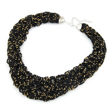 X257 Fashion bohemia fashion handmade knitted beads elegant design short necklace collar all-match BEADED BEDS NECKLACE(China (Mainland))