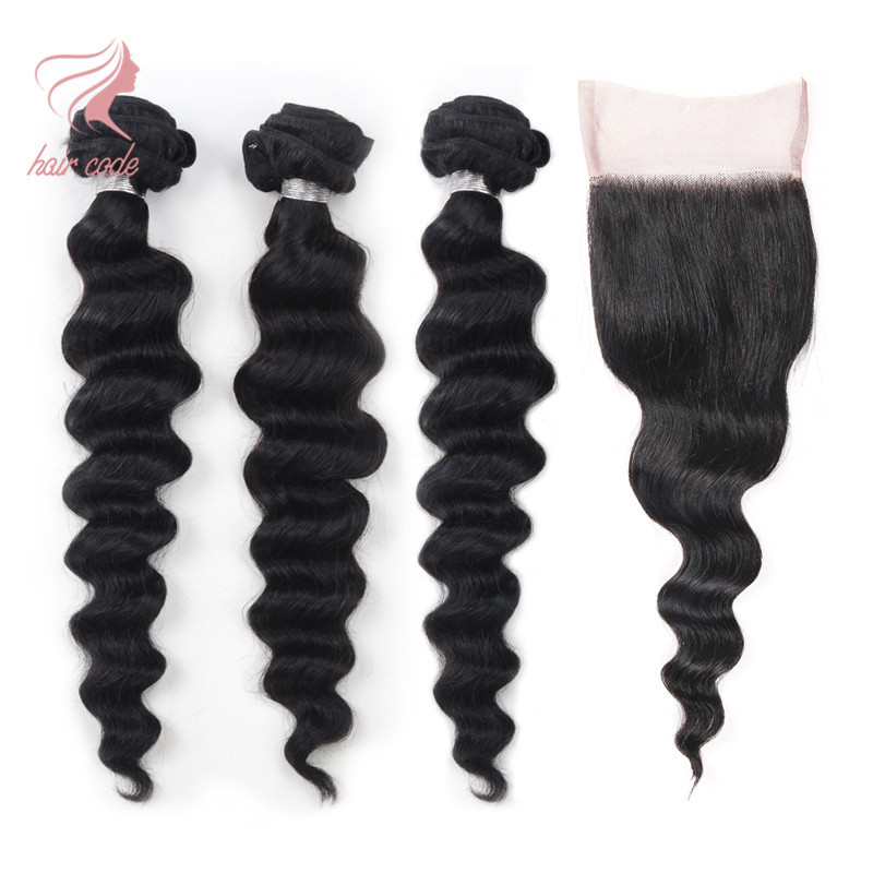 Peruvian Virgin Hair With Closure Rosa Hair Peruvian Loose Wave With Closure 8a Grade Virgin Unprocessed Human Hair With Closure