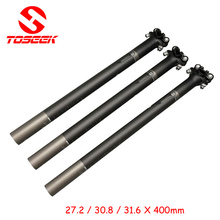 Buy New carbon fiber bicycle seatpost seat tube MTB road mountain bike seat post 27.2 / 30.8 / 31.6 * 400mm bike parts for $15.14 in AliExpress store
