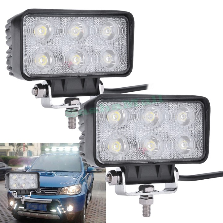 New 2pcs 18W Car LED Work White Light Scattering Beam Off-road Driving Fog Lamp Truck us24(China (Mainland))