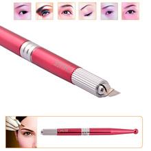 Red Aluminum CHUSE M5 Professional Permanent Makeup Manual Eyebrow Tattoo Pen Single Head(China (Mainland))