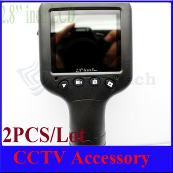 """2 sets 2.8"""" Inch LCD Monitor CCTV Security Camera Video Test Tester w 12V output for Camera,good qality and hot sale."""