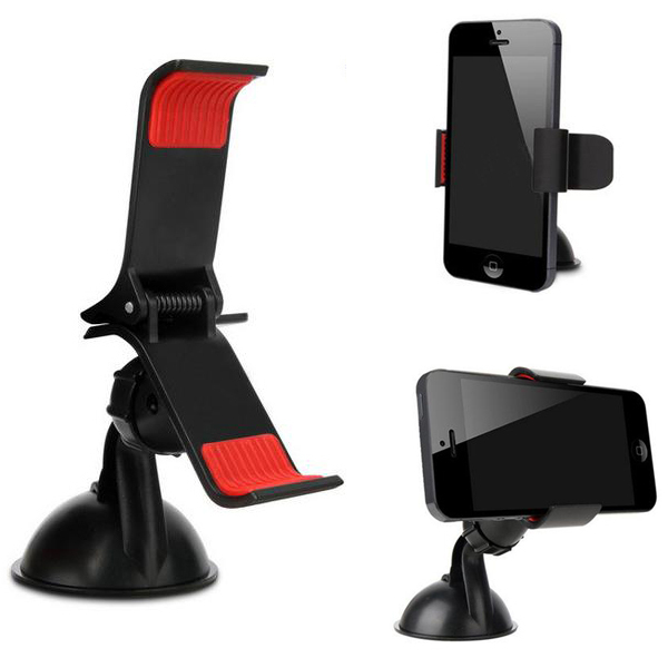 Universal Car Windshield Mount Holder 360 Degree Rotating Bracket Stick Stand for Mobile phones Samsung iphone 6/6 plus 5 5S GPS