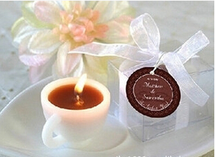 2016 10pcs/lot Coffee cup candle wedding celebration decorative candle wedding gift supplies(China (Mainland))