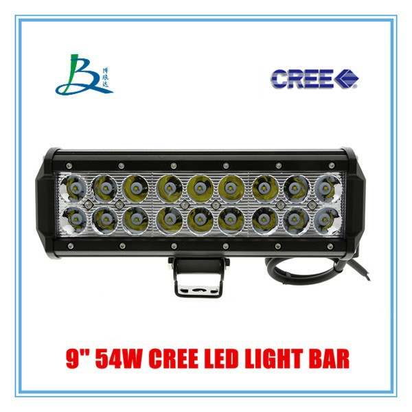 54w led bar light warning lights double row light bar 54w. Black Bedroom Furniture Sets. Home Design Ideas