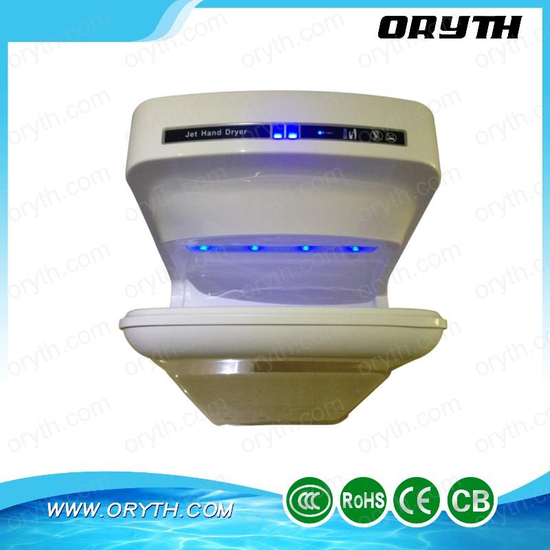 bathroom hotel new design high speed vortice hand dryer DC dual brushless motor handdryer(China (Mainland))
