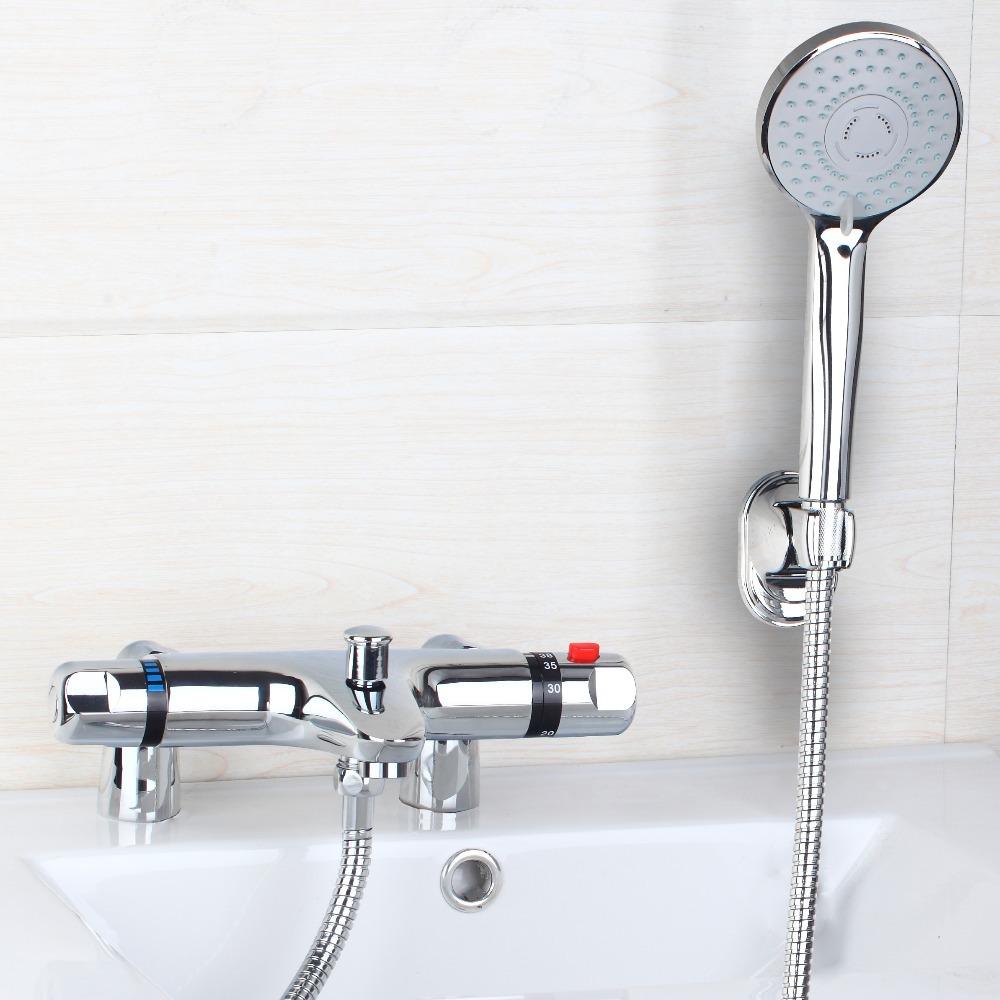 ouboni shower set torneira modern widespread bathroom bathtub roman tub filler faucet with hand shower set