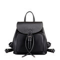 Famous Brand Women Korean Style Small Backpack Fashion Plain PU Travel Bag Designer Drawstring Flap Bag
