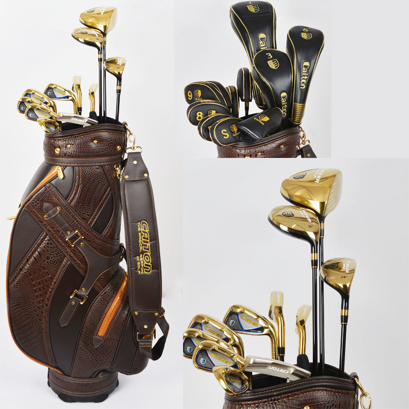 Promotion Original Cation High Grade Golf Complete Set Clubs With Golf Bag Men golf boston bag free(China (Mainland))