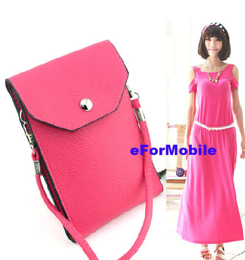 Mobile Phone Pouch Leather Case Lady Hand Wallet +A Shoulder Belt Samsung Galaxy Grand 3 G7200 A7 A700F - Elife Kimi store